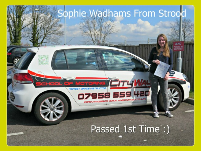 Sophie Wadhams |Driving Lessons Strood | Your route to a 1st Time Pass