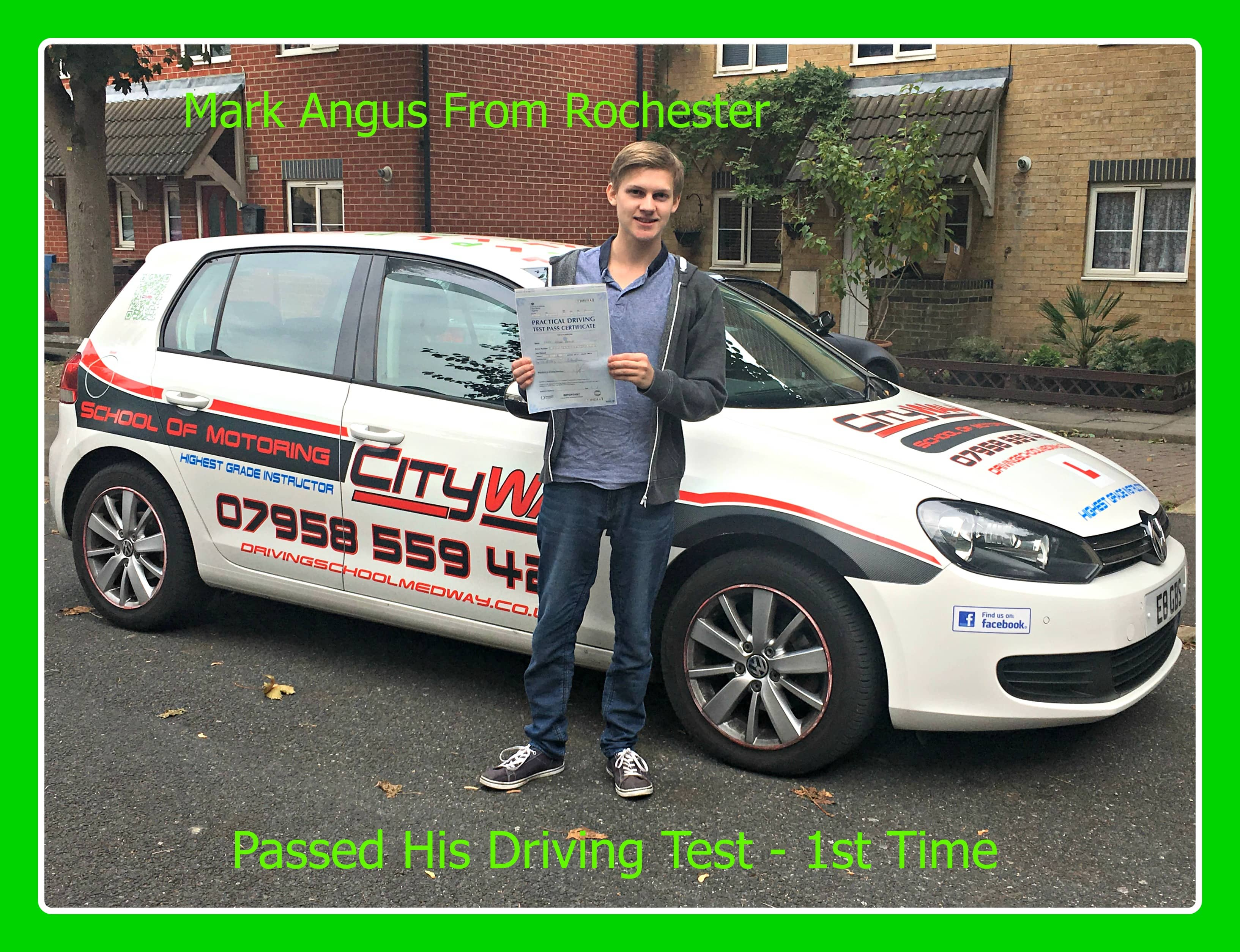 driving lessons rochester mark angus