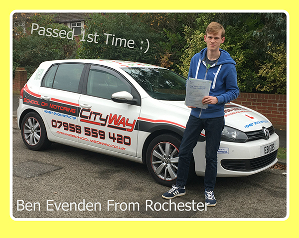 Driving Lessons Rochester Ben Evenden | Your Route to a 1st Time Pass