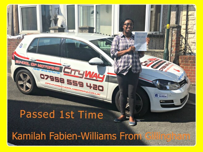 driving lessons gillingham | Your Route to achieve Independence | Kamilah Fabien-Williams