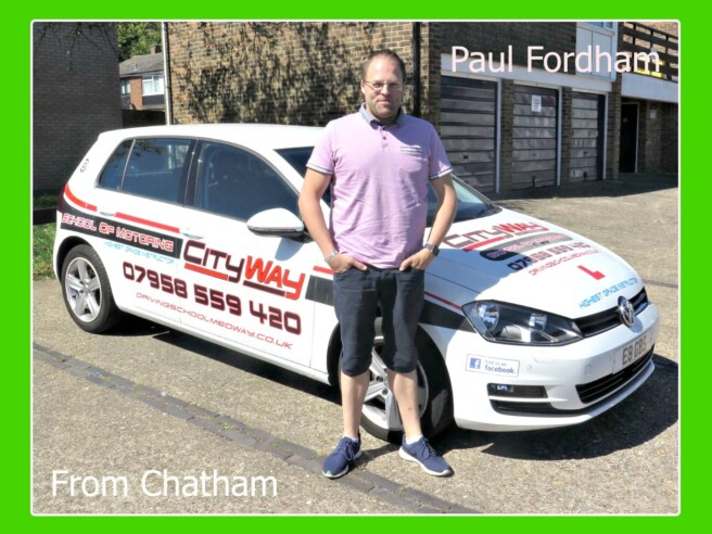 Driving Lessons Chatham | Paul Fordham | Your route to Independence