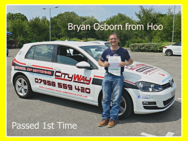 Driving Lessons Hoo | Bryan Osborn | Your route to freedom