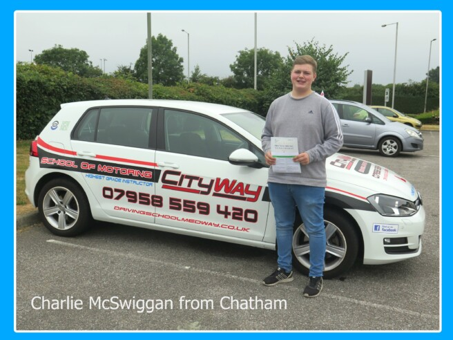 Driving Lessons Chatham | Charlie McSwiggan | Your Route to open new doors !