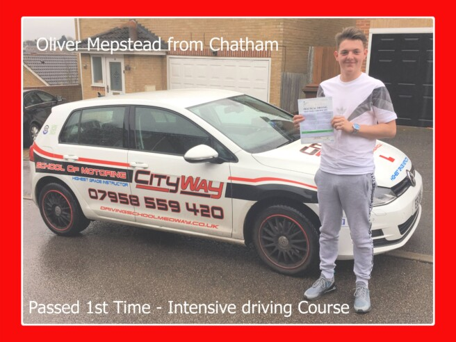 Driving Lessons Chatham | Oliver Mepstead | Best route to a 1st time pass​!