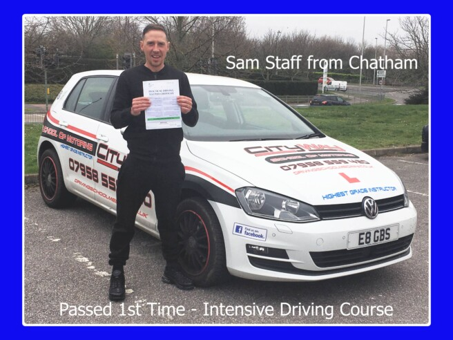Driving Lessons Chatham | Sam Staff | Your Freedom Starts Here!